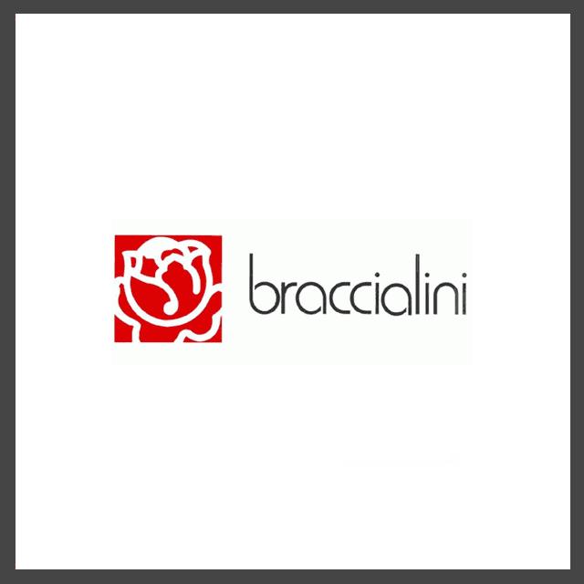 Logo della fabbrica di borse fiorentina Braccialini, con la rosa che la contraddistingue
