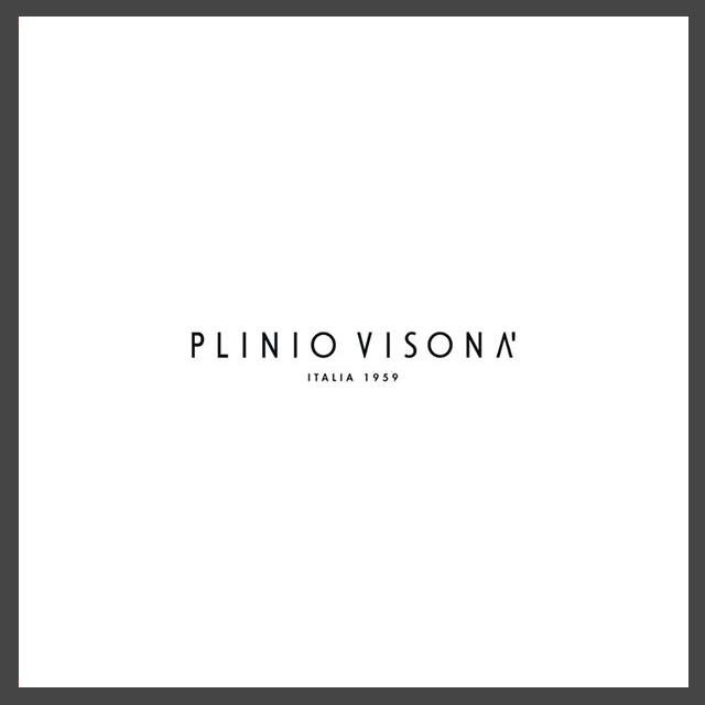 Logo della casa di moda Plinio Visonà