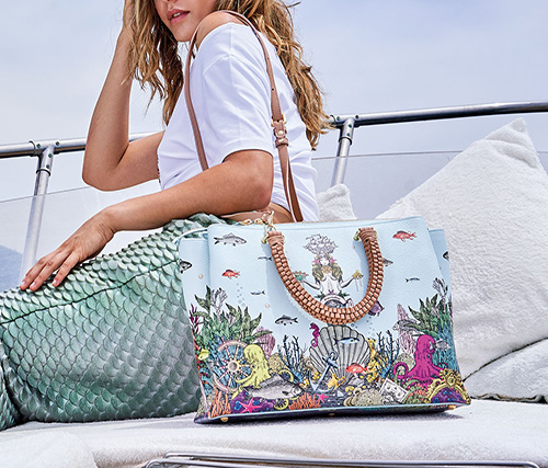 Handbag Zoe Print Braccialini, nuova collezione primavera-estate 2019 da I Segni dello Stile