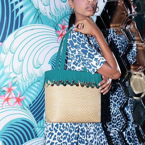 Raffia Shopping Bag di Laurafed, nuova collezione primavera-estate 2019 da I Segni dello Stile