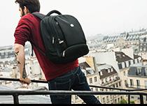 Zaino backpack multiscomparti di Delsey Paris, colore nero