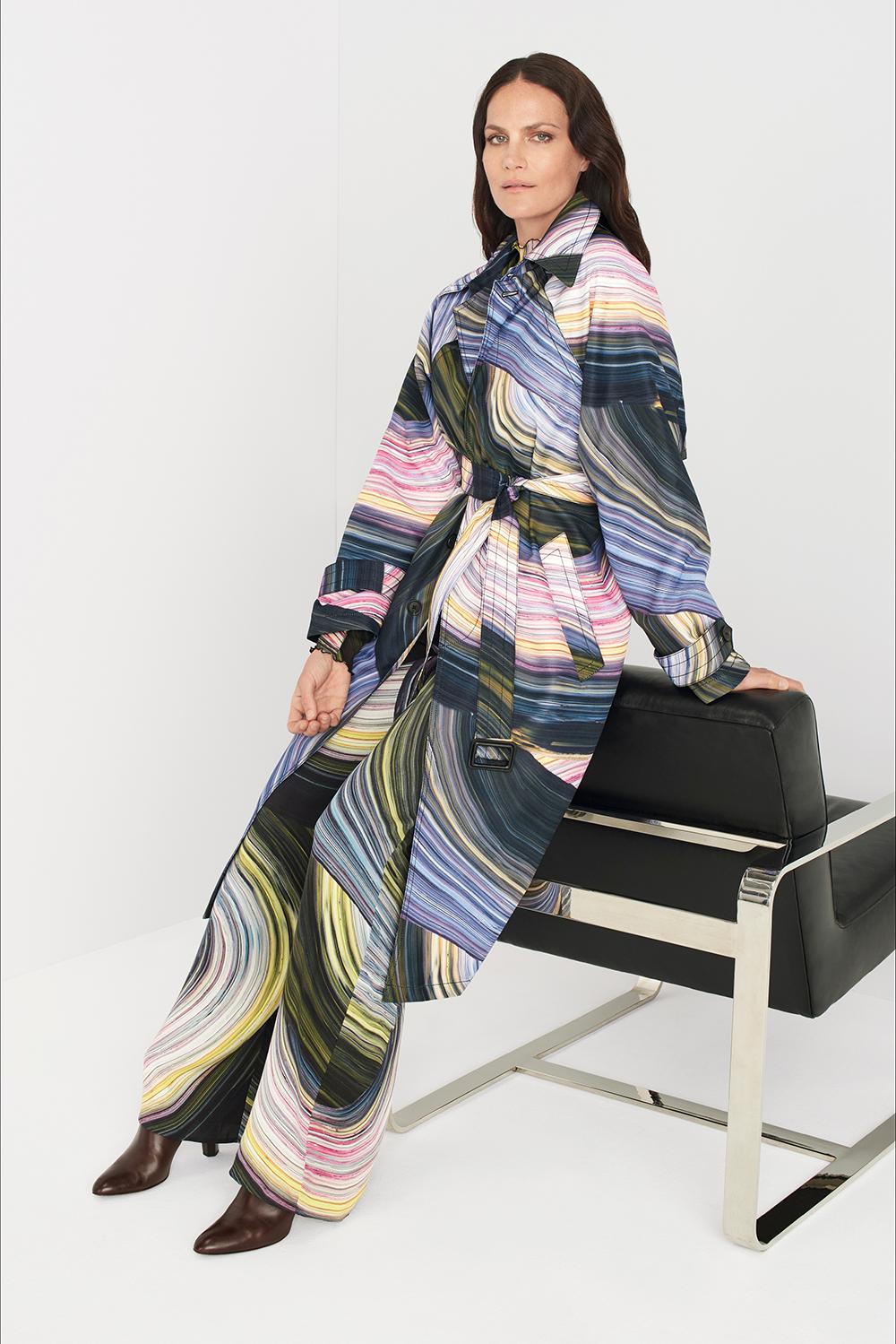 Abito kimono con cintura colorato di Diane von Furstenberg, Pre-Season primavera-estate 2020