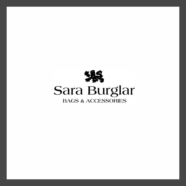 Logo della casa di Moda Sara Burglar Bags and Accessories raffigurante un leone
